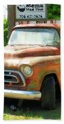 Vintage Tow Truck Beach Towel