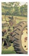Vintage Tractor Keene New Hampshire Beach Towel