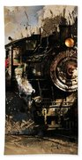 Vintage Train 06 Beach Towel
