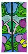 Vintage Violets Beach Towel