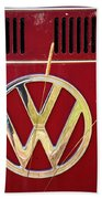 Vintage Vw Bus Logo Beach Towel