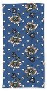 Vintage Wallpaper Seamless Rose Flower Pattern On Circles Polka  Beach Towel