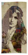 Vintage Woman Built By New York City 1 Beach Towel