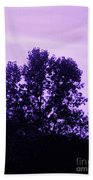 Violet And Black Trees  Beach Towel