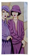 Violet And Rose Beach Towel