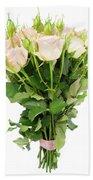 Garden Roses Bouquet Beach Towel