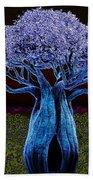 Violet Blue Baobab Beach Towel