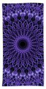Violet Digital Mandala Beach Towel