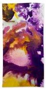 Violet Explosion  Beach Towel