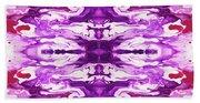 Violet Groove- Art By Linda Woods Beach Towel