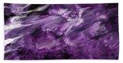Violet Rhapsody- Art By Linda Woods Beach Towel