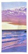 Violet Skies At Nighfall Beach Sheet