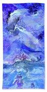 Violet Storm Beach Towel