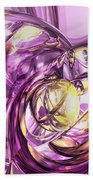 Violet Summer Abstract Beach Towel
