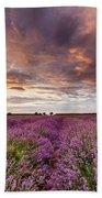 Violet Sunrise Beach Towel