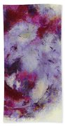 Violets Abstract Beach Towel