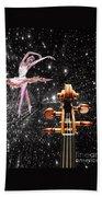 Violin And Ballet Dancer Number 1 Beach Towel