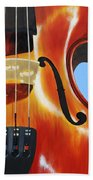 Violin Beach Towel