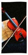 Violin Impression Beach Towel