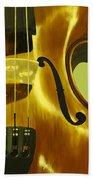 Violin In Yellow Beach Towel