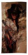 Violin Lady  Beach Towel