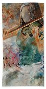Violinist 56 Beach Towel