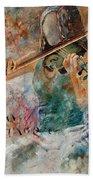 Violinist 56 Beach Towel