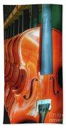 Violins For Sale Beach Towel