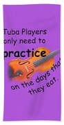 Violins Practice When They Eat Beach Towel