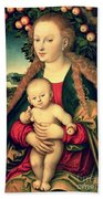 Virgin And Child Under An Apple Tree Beach Towel