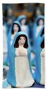 Virgin Mary Figurines Beach Towel