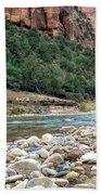 Virgin River In Zion Canyon Beach Towel