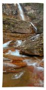 Virginia Fall Glacier Cascades Beach Towel