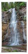 Virginia Falls - Glacier National Park Beach Towel