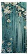 Viridian Bloom Beach Towel
