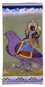 Vishnu On A Bird Beach Towel