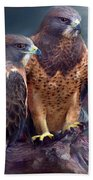 Vision Of The Hawk Beach Towel