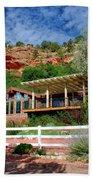 Visitor Center Best Friends Animal Sanctuary Angel Canyon Knob Utah 02 Beach Towel