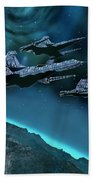 Visitors Beach Towel by Corey Ford