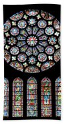 Vitraux - Cathedrale De Chartres - France Beach Towel