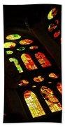 Vivacious Stained Glass Windows Beach Towel