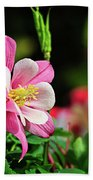 Vivid Pink Columbine Beach Sheet