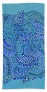 Voilet Spiral Beach Towel
