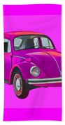 Volkswagen Beetle So Pinks Beach Towel