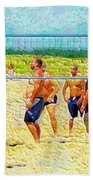 Volleyball At Gordons Pond Beach Towel