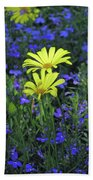 Voltage Yellow And Electric Blue 06 Beach Towel