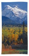 102238-v-w End Of Seven Sisters Mountain  Beach Towel