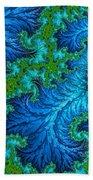 Fractal Art - Wading In The Deep Beach Towel