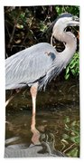 Wading In The Water Beach Towel