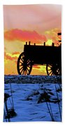 Wagon Hill At Sunset Beach Towel